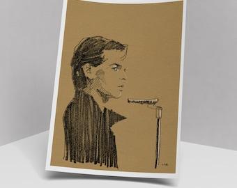 Gary Numan art print, 210 x 297 mm