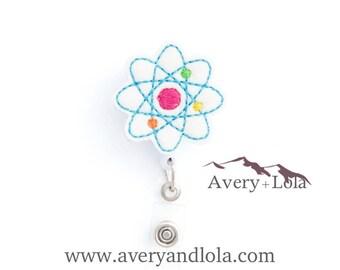 Atom Badge Reel, Atom ID Holder, Laboratory Badge Reel, Science Badge Reel, Nurse ID Holder, ID Badge Holder, Teacher Gift, Nurse Gift