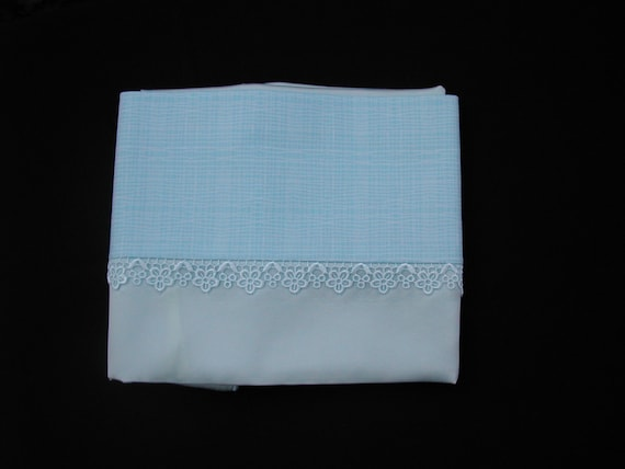 Pale blue mulberry silk charmeuse pillowcase (single)