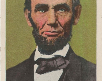 Antique Postcard of Abraham Lincoln From His Ancestral Home in Hardin County Kentucky