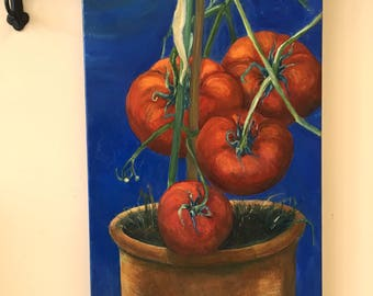 Tomato Painting - Tomatoes in the Moonlight