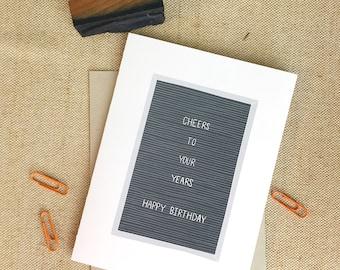 Bravo à vos années | Carte de joyeux anniversaire