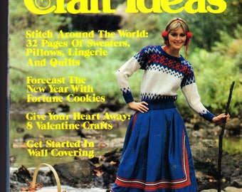 Decorating Craft Ideas - Vintage Magazine, Jan. 1984