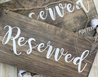 Reserved sign // rustic wood reserved sign // rustic wedding