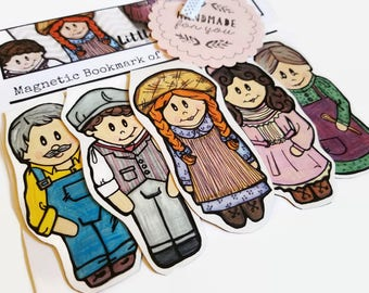 Anne of Green Gables Collectible Bookmark, Handmade Book Accessories, Magnetic Bookmarks, Anne Shirley Gift for Best Friend