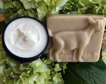 Aloe Vera Body Cream and a Goat's Milk and Shea Butter Soap