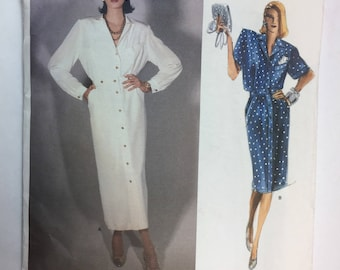 Vogue Designer, Chloe, Very Loose Fitting Top, and, Skirt, Extended Shoulders, Shoulder Pads, Vogue 1735 Vintage Pattern Size 8 uncut