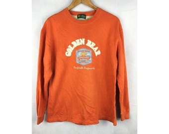 GOLDEN BEAR by Jack Nicklaus Long Sleeve Sweatshirt Big Embroidered Spell Out Logo