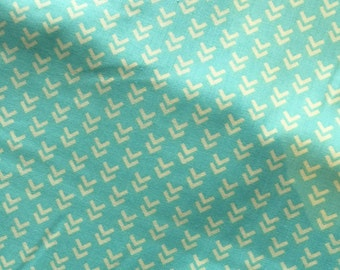 Aqua Chevron Fabric Cotton