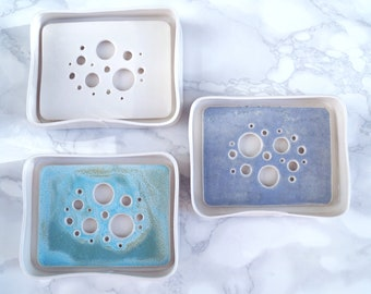 Made to order BUBBLE soap dish and tray set, choose colour