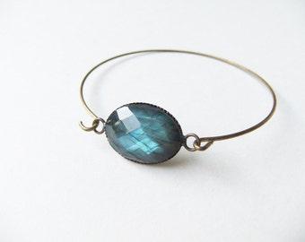 Bluenight genuine labradorit filigree bracelet