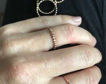 14k gold fill beaded ring