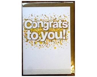 Congrats to you Card