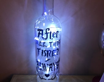 Harry Potter light up bottles