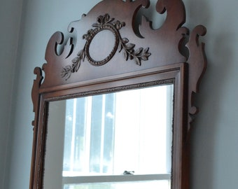 Mahogany Chippendale Mirror Kindel Antique