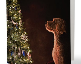 Goldendoodle Christmas Cards - pack of 6, Gifts for dog lovers, gifts for dog people, cards for dog people
