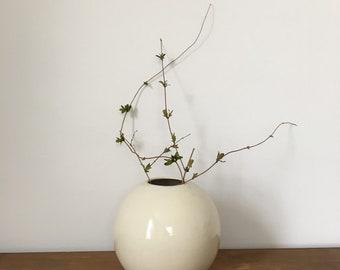 modernist Haeger orb vase