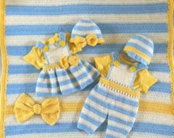 Lemon Drop Layette Crochet Pattern PDF