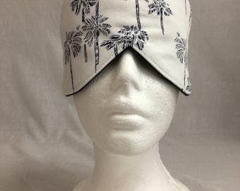 PalmTree Cotton Sleep Mask & Case Set, Eye Mask, Travel Mask, Sleeping Mask