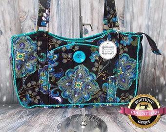Betty Shoulder Bag  Feature Piping and Attractive Front Pocket PDF Sewing Pattern