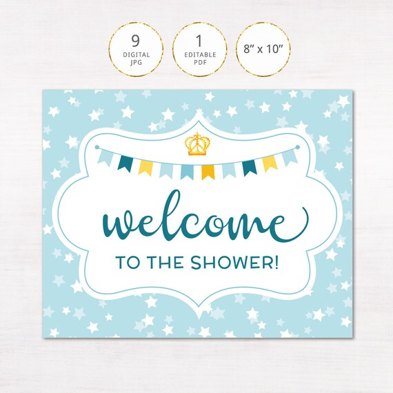 baby shower guest sign in template
