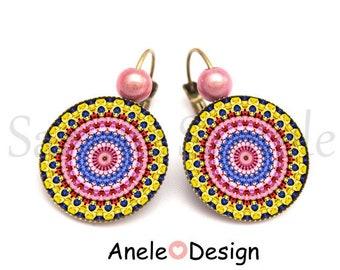 Earrings - Kaleidoscope Mandala - ethnic