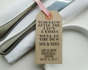 After the I Do's & Kisses-Rehearsal Table Decor-Rehearsal Dinner Ideas-Rehearsal Napkin Ties-Rehearsal Decorations-Wedding Rehearsal-Wedding