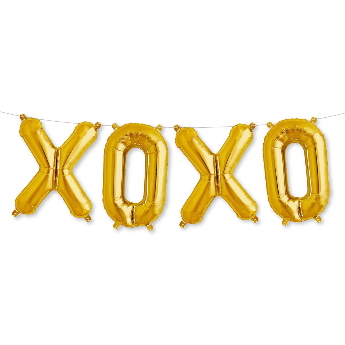 XOXO Balloon Banner - Gold Party Balloons - Letter balloons - Party ...