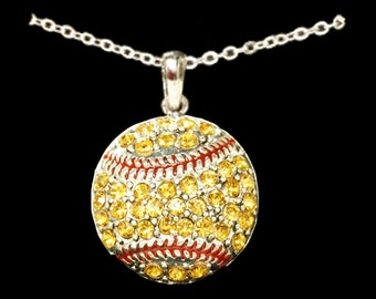 Softball Rhinestone Necklace
