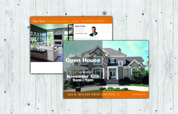 Real Estate Flyer Custom Postcard Postcard Template - Custom postcard template