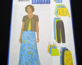 Butterick Fast & Easy Misses'/Misses Petite Top, Skirt And Pants Pattern 5424 Size 12, 14, 16 Unlimited Fashion Options