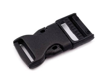 2 Side release buckle with strap adjuster width 20 mm