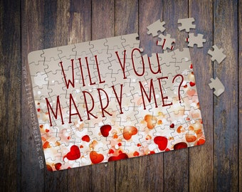 Will you Marry Me Sparkle Heart Confetti Proposal Jigsaw | Engagement | Surprise Message | Available worldwide