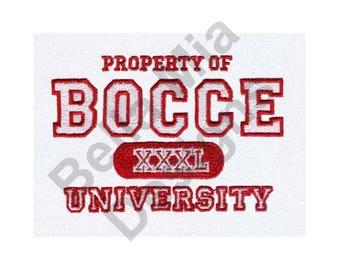 Bocce Ball University - Machine Embroidery Design, Bocce Ball, University