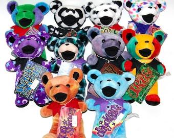 Vintage Liquid Blue 2nd Generation Grateful Dead plush bear, hippie, ripple, Jerry Garcia, sunshine daydream, dark star, peggy-o, irie