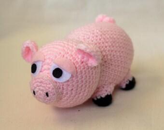 Pig Crochet Pattern, Amigurumi, Crocheted Plush, Farm Animal