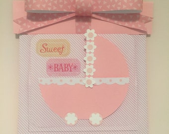 Baby Girl Pop-up Card