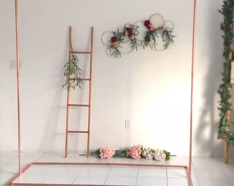 Copper Backdrop No. 5 Wedding Backdrop - Wedding Arch - Copper Arch - Backdrop - Copper Wedding - Minimalist Decor - Floral Arch -6.5ft Tall