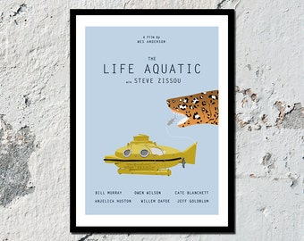 The Life Aquatic high quality film print (A5, A4, A3)
