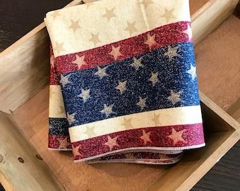 Patriotic Napkins | 4th of July Napkin | Patriotic Centerpiece | Patriotic Table Decor | Fourth of July Table Decor | 4th of July Table Dec