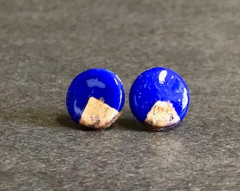 Navy and Gold Studs