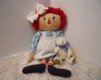 CHRISTMAS, Raggedy Doll, Seasonal Annie, Snow Annie, Bear