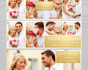 Facebook Timeline Cover, Facebook Cover, FB timeline cover, Photography Template, Web Template Banner, Faux Gold Facebook Cover FB004