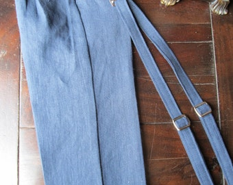 Boys Linen Ring Bearer 2 Piece Set, Ring Bearer Pant, and Suspenders. Wedding Outfit for Ring bearer made by TwoLCreations