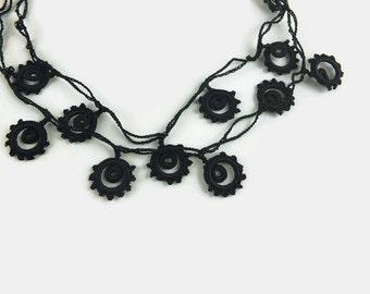 Crochet Black Eye Glass Chain,Lanyard For Eye Glass, Eye Glass Holder, Women Eye Glass Necklace Gift for Mom, Grandma