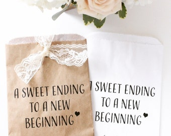A sweet ending to a new beginning. Wax Lined /Grease Resistant Bag