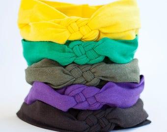 Headband, Celtic Knot Headband, Headbands, Baby Headbands, Turban Headband, Top Knot, Head Wrap, Headwrap, Baby Gift - Solid Collection