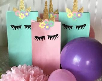 Unicorn Treat Bag, Treat Bag Decor, Unicorn Birthday Party Decoration, Unicorn Party, Unicorn Horn, Unicorn Birthday, Unicorn Goodie Bag