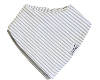 baby bandana bib, truly reversible - grey