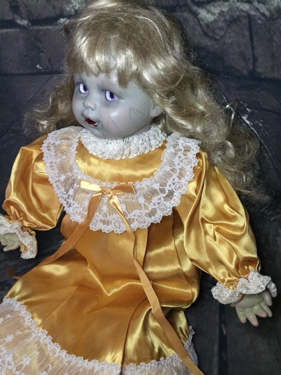 Original Undead Glamorously Dressed For Bed Custom Glass Eyes That Follow You Zombie Biohazard Baby